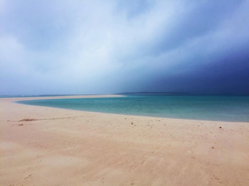 曇りです・・・はての浜・・・