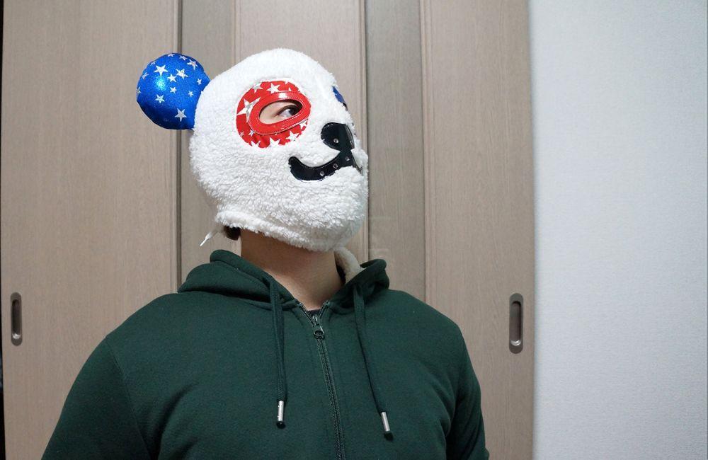 物思いにふける覆面パンダ