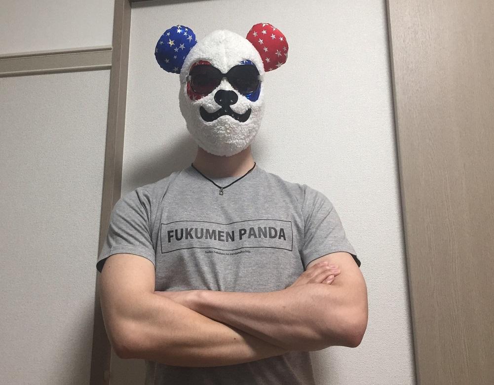覆面パンダとTシャツ
